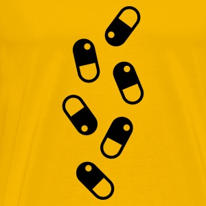 Yellow PILLS_pattern T-Shirts - Men's Premium T-Shirt