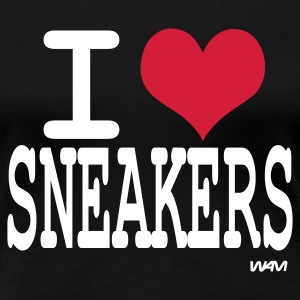 Schwarz i love sneakers by wam T-Shirts - Frauen Premium T-Shirt