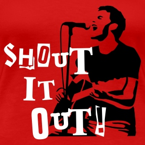 shout_it_out T-shirts - Dame premium T-shirt