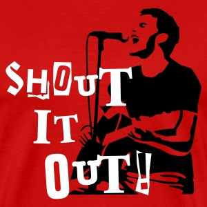Rot shout_it_out T-Shirts - Männer Premium T-Shirt