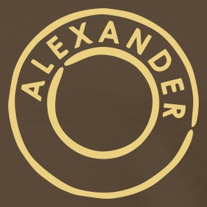 Brown Alexander - Alex Men's T-Shirts - Men's Premium T-Shirt