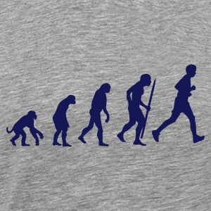 Ash (peper-en-zoutkleurig) Evolution of running T-shirts - Mannen Premium T-shirt
