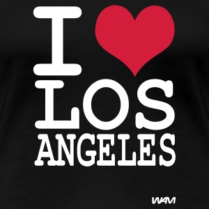 Schwarz i love los angeles by wam T-Shirts - Frauen Premium T-Shirt