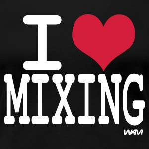 Schwarz i love mixing by wam T-Shirts - Frauen Premium T-Shirt