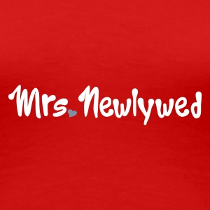 Red Mrs Newlywed Women's T-Shirts - Women's Premium T-Shirt