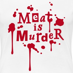 Womens Shirt 'Meat is Murder' W - T-shirt Premium Femme