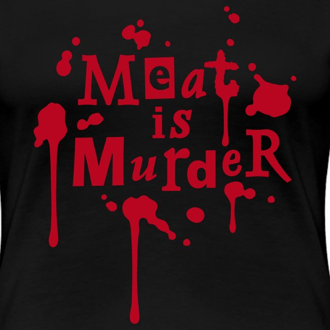 Womens Shirt 'Meat is Murder' W