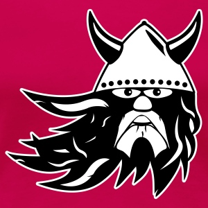 Pink viking warrior 2k outline EN Women's Tees - Women's Premium T-Shirt