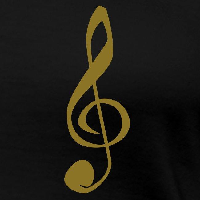 Violinschlüssel Girlieshirt klassisch
