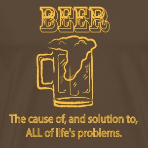 Beer - the final solution. - Men's Premium T-Shirt