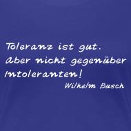Motiv ~ Wilhelm Busch  Damen T  Shirt: Toleranz