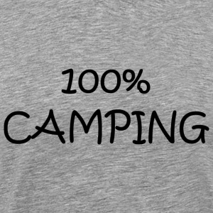 Cendre camping T-shirts - T-shirt Premium Homme