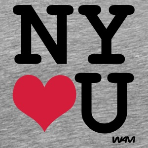 Ash new york loves you by wam Men's T-Shirts - Men's Premium T-Shirt