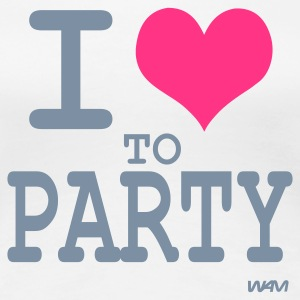 Weiß i love to party by wam T-Shirts - Frauen Premium T-Shirt