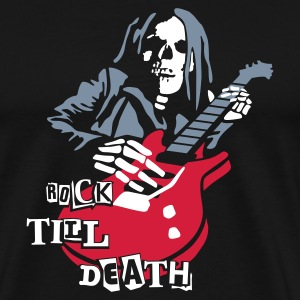 dead_guitar_player_2 T-shirts - Mannen Premium T-shirt