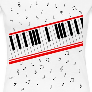 Beat It – Piano Shirt - Frauen Premium T-Shirt
