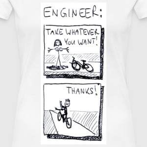 White The naked truth about engineers. Women's Tees - Women's Premium T-Shirt