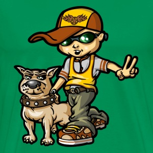 bboy and his dog - T-shirt Premium Homme