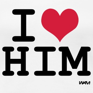 Wit i love him by wam T-shirts - Vrouwen Premium T-shirt