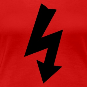 Red Electricity Symbol Women's T-Shirts - Women's Premium T-Shirt