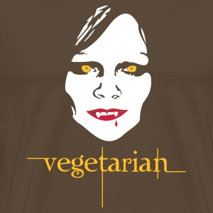 Brown vegetarian vampire Men's T-Shirts - Men's Premium T-Shirt