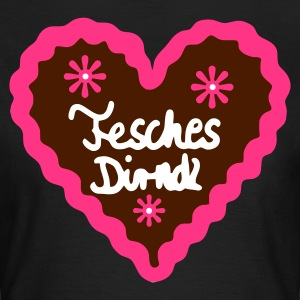 Chocolate fesches dirndl T-Shirts - Frauen T-Shirt