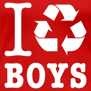Rouge I recycle boys T-shirts - T-shirt Premium Femme