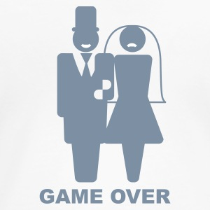 Blanco Game Over Camisetas - Camiseta premium mujer
