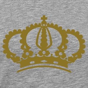 Krone Crown King T-Shirt weiß, Motiv gold-metallic - Männer Premium T-Shirt