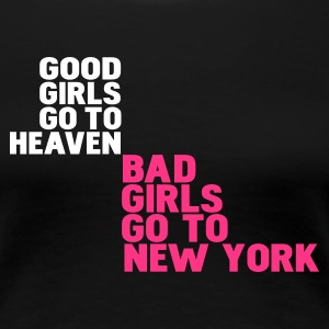 Zwart bad girls go to new york T-shirts - Vrouwen Premium T-shirt