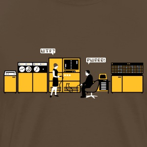 Brown retro computer T-Shirts - Men's Premium T-Shirt
