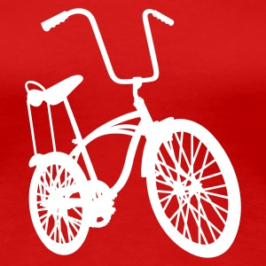 Red old school retro bike Women's Tees - Women's Premium T-Shirt