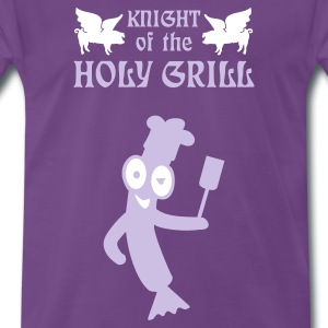 Indigo Knight of the holy grill (Txt, 2c) T-shirts - Premium-T-shirt herr