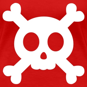 Rouge Cartoon Skull 1 (1c, NEU) T-shirts - T-shirt Premium Femme