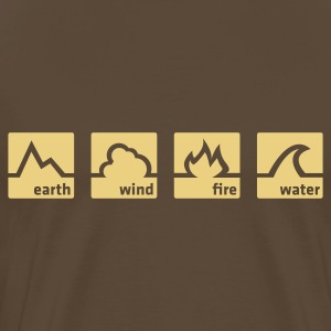 Earth Wind Fire Water (1c, NEU) - Men's Premium T-Shirt