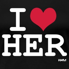 Schwarz i love her by wam T-Shirts