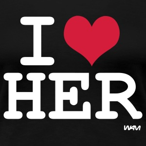 Schwarz i love her by wam T-Shirts - Frauen Premium T-Shirt
