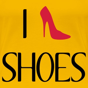 Rosa chiaro I love shoes T-shirt - Maglietta Premium da donna