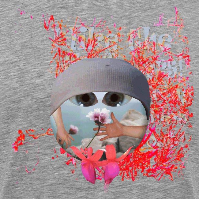 I like the flowers, t-shirt