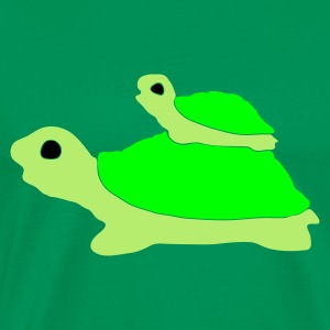 Grass green tortoise Men's Tees - Men's Premium T-Shirt