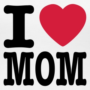 Weiß i love mom DE T-Shirts - Frauen Premium T-Shirt