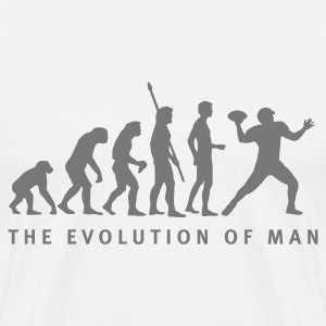 Weiß evolution_football_b_1c T-Shirts - Männer Premium T-Shirt