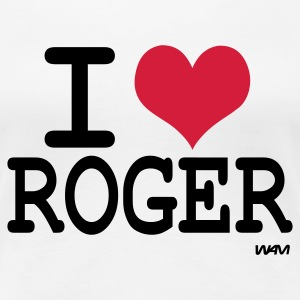 Blanc i love roger by wam ( tribute to federer ) T-shirts - T-shirt Premium Femme
