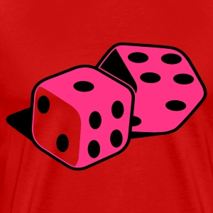 Burgundy red dice_2_colour Men's T-Shirts - Men's Premium T-Shirt