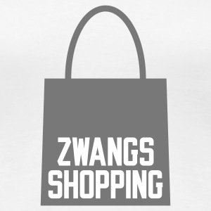 Weiß Zwangs Shopping © T-Shirts - Women's Premium T-Shirt