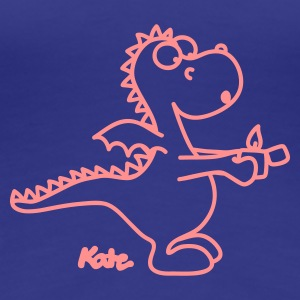 Royal blue Dragon with lighter Women's T-Shirts - Women's Premium T-Shirt