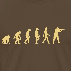 Marrón Hunter Evolution (1c, NEU) Camisetas - Camiseta premium hombre
