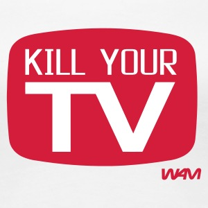 Bianco kill your tv by wam T-shirt - Maglietta Premium da donna