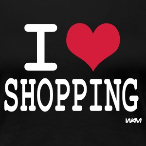 Svart i love shopping by wam T-shirts - Premium-T-shirt dam
