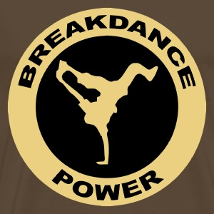 Marron breakdance T-shirts - T-shirt Premium Homme